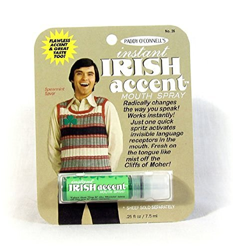 Gag Gifts - Instant Irish Accent Breath Spray
