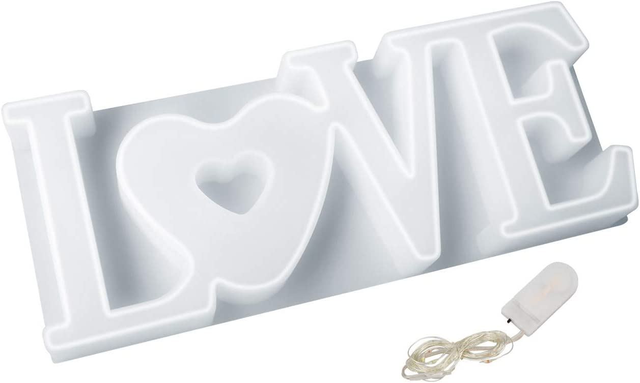 Love Resin Mold Sign with Superior DIY Epoxy Outstanding Lights for