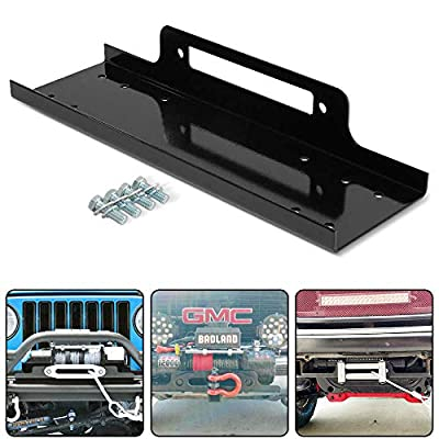 """RUGCEL Winch Mounting Plate Compatible w/ 1987-2006 Wrangler LJ (23"""")"""