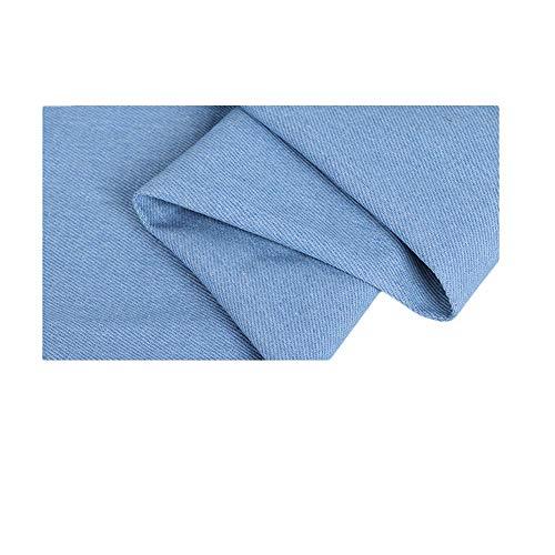 Denim stof | katoen | kleding dikke broek rok zomer effen kleur gewassen bedrukte stof overhemdstof (Color : Light blue)