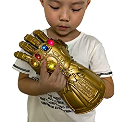 New version Kids Magnet Iron Man Infinity Gauntlet, LED gems can be removed and install. Length:29cm/11inches. replica Kids gauntlet 1:1,fit for most Kids. We updated the product design, there is no board installed inside the glove, but all the gems ...