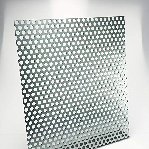 Lochblech Stahl Verzinkt RV 10-15 1,5 mm stark Individueller Zuschnitt nach Maß (1000 mm x 400 mm)