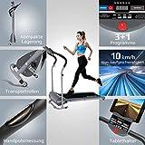 Kinetic Sports KST1900FX Laufband klappbar elektrisch flach 500 Watt leiser Elektromotor, bis 120 kg, GEH- und Lauftraining, Tablethalterung, stufenlos einstellbar bis 10 km/h - 3