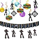 JeVenis Juego de 2 banners de boogie para decoración de fiesta de discoteca, decoración de fiesta de los años 80, decoración