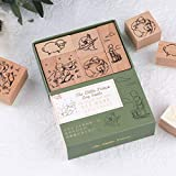Risypisy 5 Pieces Wooden Rubber Stamps, Vintage Decorative Rubber Stamp, Little Prince Wooden Stamp Set for DIY Projects, Card Making, Planners, Scrapbooking, Envolope and Journaling