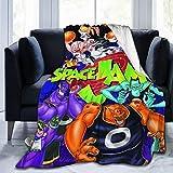 Nedrodapphire Sp-Ac-E Xmas J-A-m Ultra-Soft Micro Fleece Blanket Throw Blanket Fit Couch Bed Sofa All Season Light Weight Living Room/Bedroom Warm Throw Blanket,Black,50' X40