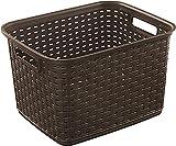 STERILITE Tall Wicker weave basket Multicolor , (Pack of 1)