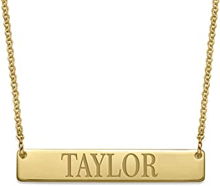 skinny gold bar necklace