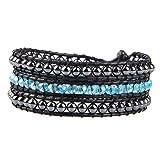 Best Beads Mixes - KELITCH Blue Crystal Hematite Beads Mix 3 Wrap Review