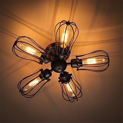 BRIGHTLLT Lampe de plafond rétro LED American Iron Artist Restaurant Bar Café Industrie, 500 * H500mm