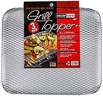 Oscarware 3-Pack Disposable Grill Topper 16 by 12-Inch