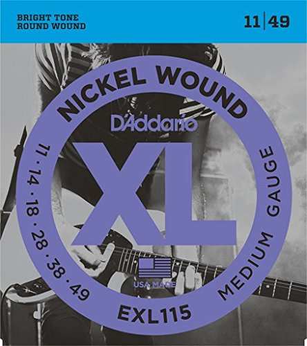 D'Addario: Blues Jazz (11-49) Guitar String Set. Für E-Gitarre