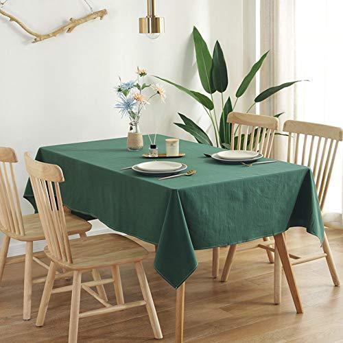 XTUK Decoración para EL hogar Mantel Decoración navideña Simple dormitorio para estudiantes Tela Color sólido algodón Lavado Mantel Mantel Rectangular sala de reuniones restaurante boda Comedor