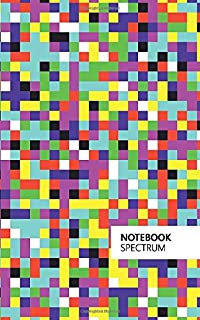Spectrum Notebook: (Rainbow Squares Edition) Fun notebook 96 ruled/lined pages (5x8 inches / 12.7x20.3cm / Junior Legal Pa...