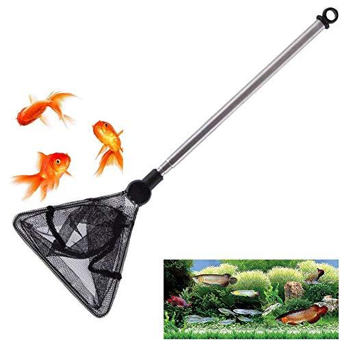 Xk Guadino per Acquario con Manico Telescopica Retino da Pesca Guadino allungabile per Tutti Gli Animali Acquatici Adatti per Uso Domestico e Acquario Adatto per Molte Occasioni(Triangolo)