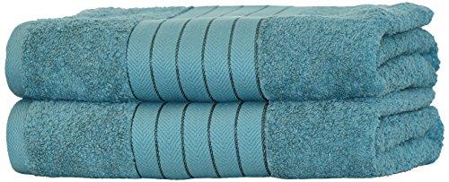 Highams de lujo 2piezas algodón egipcio Set de regalo toalla Bale 485G/m², color azul