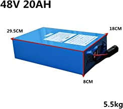 High Power 2000W 48V 20AH 30AH 40AH 60AH Electric Bike Battery 48V 20AH E-bike Battery 48 Volt Lithium Battery with BMS fast Charger (48V 20Ah with Quick charger (29.5cm×18cm×8cm))
