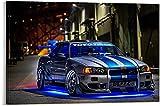 Nissan Skyline Fast and Furious 2 Night Leinwand Kunst