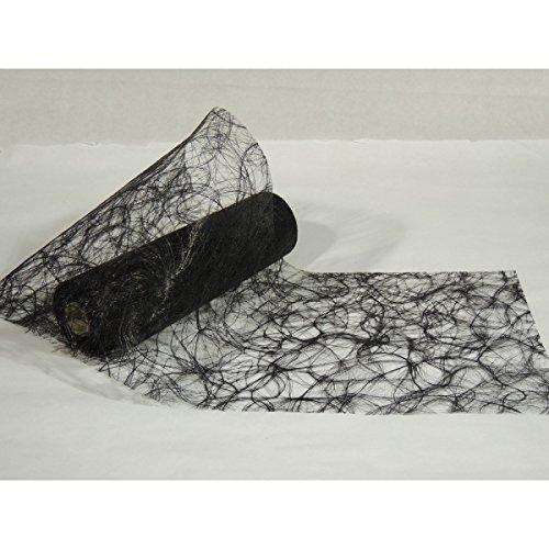Chemin de table fibre - 0.30X25m - noir - le rouleau
