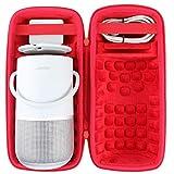 co2CREA Duro Viaggio Caso Copertina per Bose Portable Smart Speaker(solo scatola) (Nero/rosso)