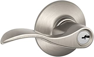Schlage F51A ACC 619 Accent Keyed Lever, 1 Pack, Satin Nickel