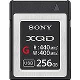Sony 256.GB Flash Tarjeta de Memoria Xqd, G Serie (440.MB/S Leer Y Escribir 400.MB/S)