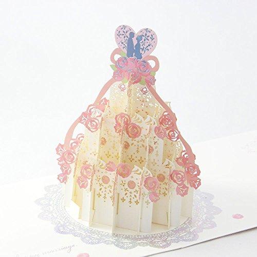 学研ステイフル結婚祝いカードレーザーポップケーキE48022