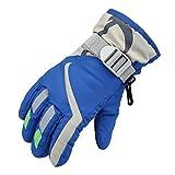 Child Boys/Girls Winter Warm Waterproof Windproof Snow Snowboard Ski Sports Gloves a Adjusta