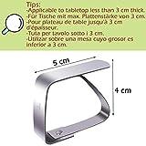 Blooven 8 Stück Tischtuchklammern Edelstahl, Tischdeckenklammer Tischabdeckungsklemmen Tischdecke Clips Tischtuch Clips - Silber - 2