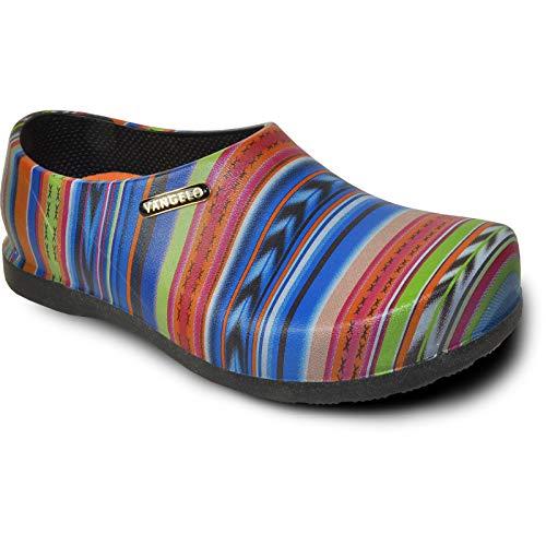 VANGELO Professional Slip Resistant Clog Men Work Shoe Nurse Shoe Chef Shoe Carlisle Multi Color-1 Men Size 10