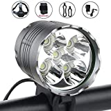 Best Bicycle Lights 5000 Lumens Rechargeables - WasaFire Bike Light,6000 Lumens 5 LED Bicycle Light,Waterproof Review