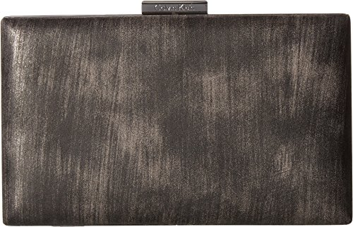 Show off your spice and zest for life with this chic  Calvin Klein® Brushed Metallic Evening Bag. Made of 100% PU. Exterior features brushed metallic outer. Clasp-style closure. Interior provides a single back-wall zip pocket with two slip pockets. I...