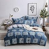 yaonuli Baumwolle vierteiliger Baumwoll-Twill-Druck vierteiliger Baumwoll-Cartoon-Bausatz Zeit zum Kochen Regen 1,5 m - 1,8 m Bett universal