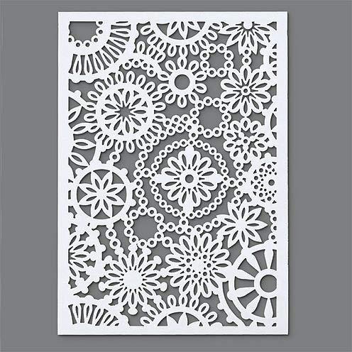 Efco –Plantilla para estarcir,1 diseño de Flores,DIN, plástico, Transparente, A5