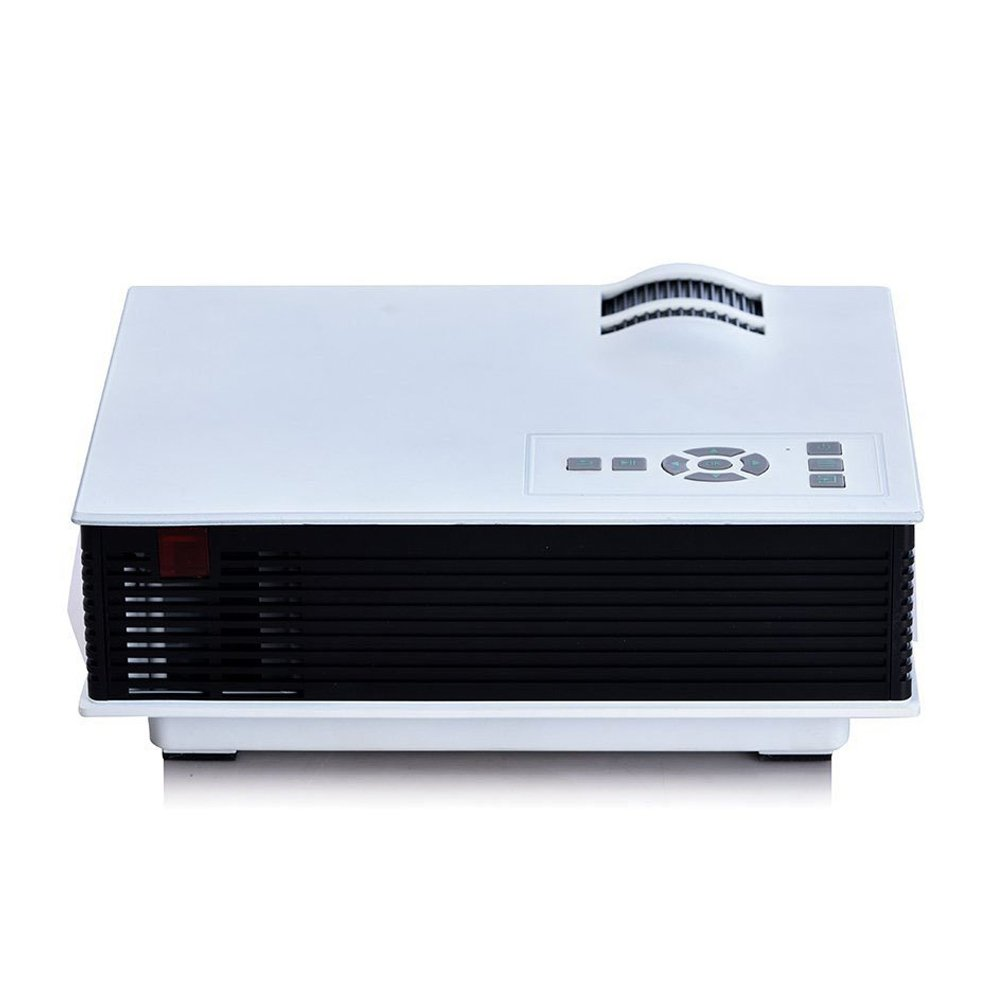 """ERISAN Updated Full Color 130"""" Multimedia Mini LED Projector Portable Home Cinema Theater Box- Optical Keystone USB/AV/SD/HDMI/Interface for Video Game Movie Night"""