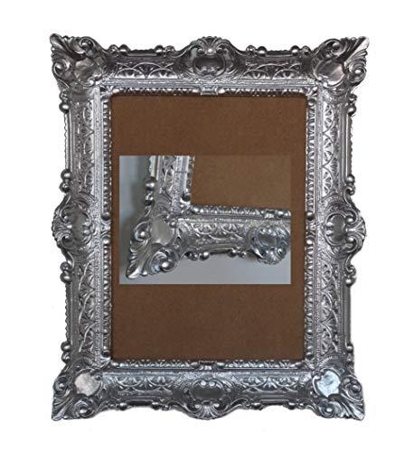 Lnxp ANTIK BAROCK BILDERRAHMEN in Silber 56x46cm RECHTECKIG REPRO Bilder für 30x40cm oder 40x30 cm BAROCKRAHMEN Bilder