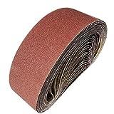 Bandas de lijado 100 x 915 mm, cinta de lijar 40/60/80/120/150/240/400 para bandas de lijado, para lijar, limar, afilar y eliminar óxido (12 piezas)