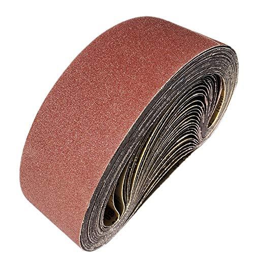 Schleifbänder100 x 915 mm, Schleifband 40/60/80/120/150/240/400 für Schleifbandschleifer, zum Schleifen, Feilen, Schärfen und Entfernen von Rost (12 Stück)-FEIHU