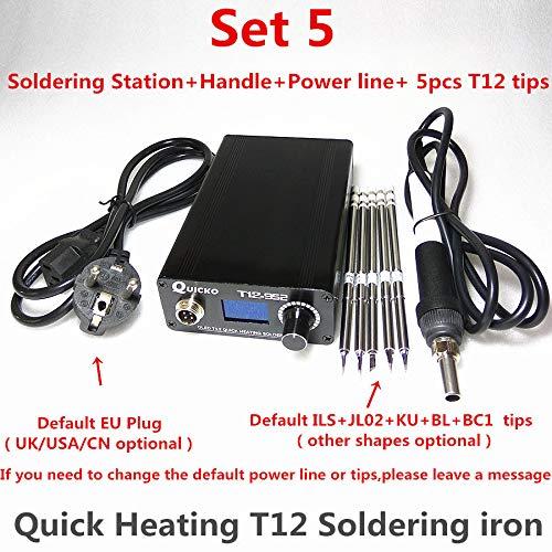 T12 Elektronischer Lötkolben Digital Heizstation Schweißeisen STC T12 OLED T12-952 QUICKO