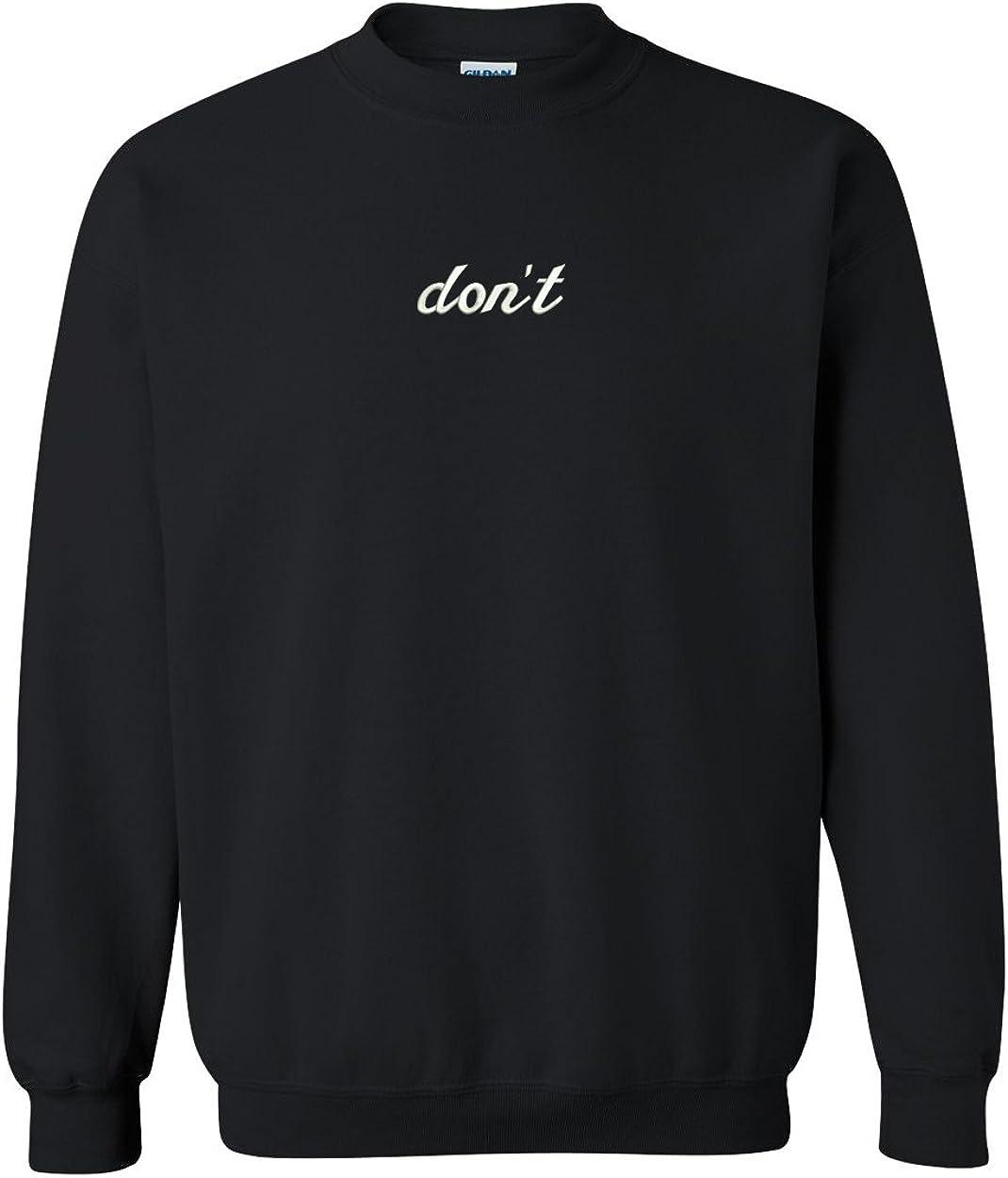 Trendy Apparel Shop Embroidered Crewneck Sweatshirt