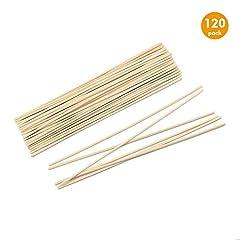 Idea Regalo - Esnow 120 pezzi bastoncini di diffusore di olio di legno di Reed Sostituzione bastoni da bastoncino di rattan per profumo di aroma, 9,45 pollici