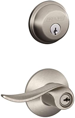 Brass Schlage FB50NV-AVA Avanti Keyed Entry Leverset and Deadbolt Combo