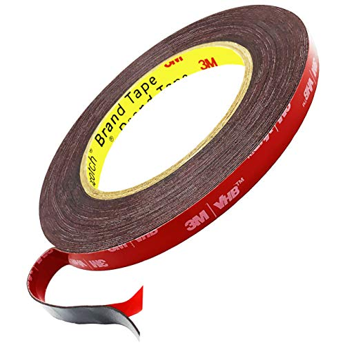 3M Double Sided Tape Mounting Tape Heavy Duty, 33 FT Length, 0.4 Inch Width. 3M VHB Waterproof Foam Tape for LED Strip Lights, Car Decor, Home Decor, Outdoor Decor and Office Decor.