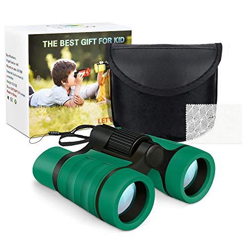 Dreamingbox Spielzeug für Jungen 3-10 Jahre, Kompakt Fernglas für Kinder Spielzeug für Mädchen 3-12 Jahre Geburtstag Geschenke für Jungen ab 3-12 Geschenke für Mädchen 3-10 Jahre Grün