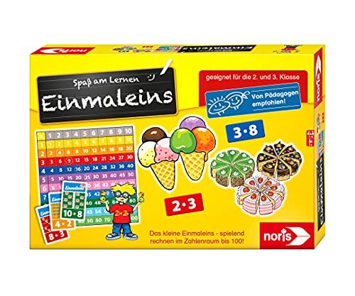 Noris 606076342 Spaß am Lernen, Kinder Lernspiel zum Einmaleins Lernen für die 2 und 3 Klasse, 1-4 Spieler, ab 7 Jahren