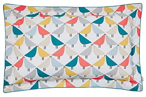 Scion Lintu Oxford Pillowcase Marina, 100% COTTON PERCALE 180 THREAD COUNT