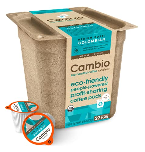 Cambio Roasters® Organic, Recyclable, Colombian Roast, Eco-Friendly...
