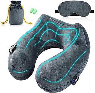 Jasonwell Almohada de Viaje Inflable Relajante Cuello Apoyo Travel Neck Pillow Inflatable para avion vuelos de larga dista...
