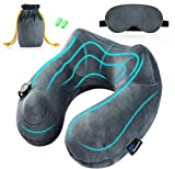 jasonwell inflatable travel pillow best 360 degree neck support pillow portable planes u shaped