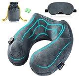 Jasonwell Inflatable Travel Pillow Best 360 Degree Neck Support Pillow Portable Planes U